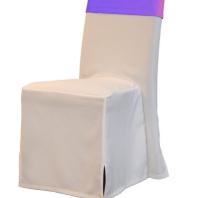 Weiße Husse Lederstuhl