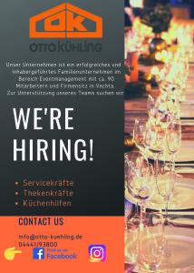 Orange Blue Modern Photo Job Vacancy Announcement